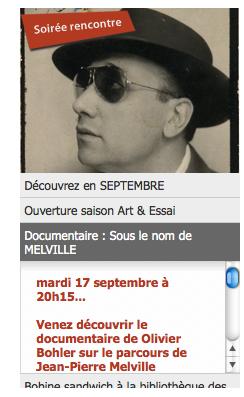 Sous le nom de Melville à Belfort, septembre 2013